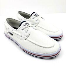 Nautica Spinnaker III Mens Size 8 White Heritage 2 Eye Slip On Comfort Boat Shoe
