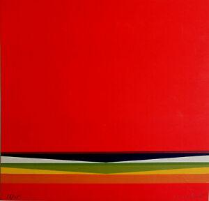 LOTHAR QUINTE - o.T. (1965). Handsignierter Farbsiebruck, nur 65 Exemplare!