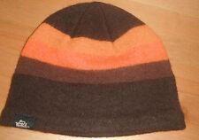 New WOOLRICH Hat Beanie Cap brown 100 % boiled wool !