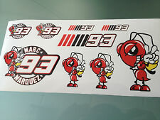 Marc Márquez Stickers-Decal Sticker Kit (DL hoja de tamaño)