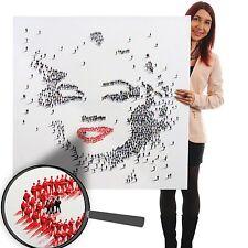 Tableau à l'huile Marylin+foule, peint à la main, toile XL ~ 100x100cm