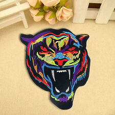 Rainbow Tiger Embroidery Sew Iron On Patch Badge Clothes Fabric DIY Applique
