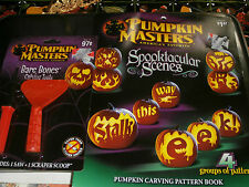 Pumpkin Masters Spooktacular Scenes Halloween Carving Book Patterns 2 Tools