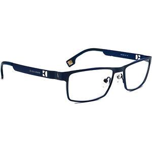 Boss Orange Eyeglasses BO 0004 SI1 Blue Rectangular Metal Frame 52[]16 140