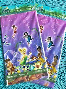 1 Hallmark Disney Fairies Tinkerbell Plastic Tablecloth Cover Party Birthday