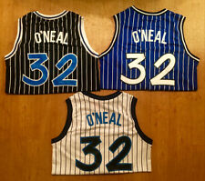 Shaquille Shaq O'neal #32 Orlando Magic Black White Blue Men's Throwback Jersey
