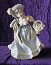 16TH CENTURY LADY W/FLOWERS FIGURINE DRESDEN PORCELAIN MADE IN BAVARIA