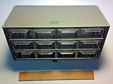 NEW- AKRO-MILS Cabinet Model J-12, METAL Cabinet w/ 12 Drawers USA MADE!