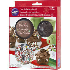 Wilton 48pc Reindeer Cupcake Case Antler Picks Chocolate Sprinkle Decorating Kit