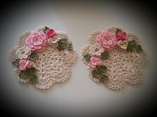 Choose Your Own Color Crochet Doilies set of 2 unique gift idea by leochic033