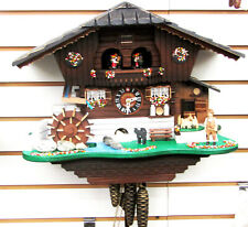 "LOTSCHER 1 DAY MUSICAL CUCKOO CLOCK- ""CAT AND MOUSE,"" SWISS MADE 998 M"