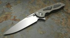 Real Steel Messer HARRIER Flipper 204P Stahl Titan- / Kohlefasergriff Framelock