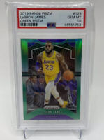 2019 Panini Green Prizm Lebron James #129 PSA 10 Gem Mint Lakers Refractor