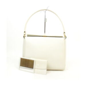Vintage Gucci Hand Bag  Whites Leather 1135063