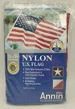 Annin Us American Flag 3 x 5 Ft 100% Nylon Embroidered Stars Grommets New