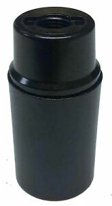 SES Light Bulb Lamp holder 10mm, in Black Plastic, Unswitched (A105)