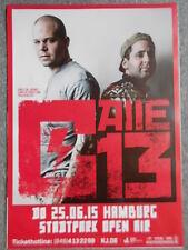 Calle 13 2015 Amburgo ORIG. Concert-concerto-Tour-POSTER - MANIFESTO DIN a1