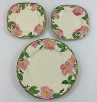 Vintage Franciscan Desert Rose Dinner Plate 2 Salad Plates USA England 3 Pc