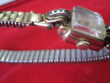 "Stowa Armbanduhr Damenuhr Walz-Gold-Double ""Strasssteine"" Flexband. Ca. Art Deco"