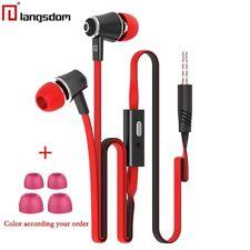 Dans - Ear Casque Audio Langsdom JM 21 Microphone D'écouteurs Stéréo Couleurs Blanc