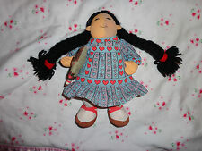 "Mama Do You Love Me Cloth Doll Eskimo 1983 Determined Productions 9"" w Dress"