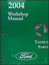 2004 Ford Taurus and Mercury Sable Original Repair Shop Manual OEM Workshop