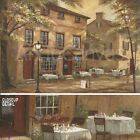 """36""""x24"""" COLLEEN'S PUB by RUANE MANNIN LARGE PUB BAR STREET OUTDOOR TABLES CANVAS"""