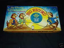 THREE CHIPMONKS HASBRO 1960 RARE GAME!