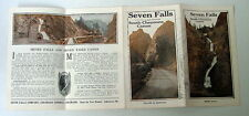Vintage Seven Falls And South Cheyenne Canon Canyon Colorado Travel Brochure