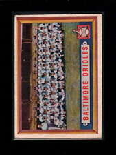 1957 TOPPS #251 BALTIMORE ORIOLES TEAM CARD VG-EX D1876