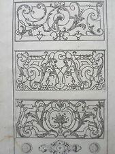 BALCON  BOUTON PORTES PLACARD POULLEAU GRAVURE XVIIIéme ORNEMENT  DECORATION
