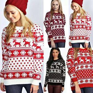 Women's Ladies Children Kids Christmas Snowflake Xmas Novelty Jumper Sweatshirt