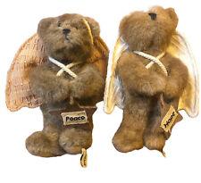 2 Boyds Bears 5.5� Peace And Hope Bears Angel Bears Ornaments Figurines