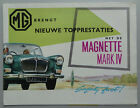 V17172 MG MAGNETTE MK IV - DEPLIANT - 07/62 - 22x28 - B NL