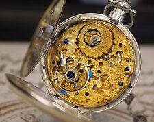 Fantastische Chinesische Duplex Silber Taschenuhr mit Kette Chinese pocket watch