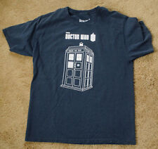 DOCTOR WHO Police Public Call Box BBC blue t shirt size L