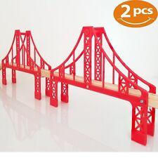 Double Suspension Bridge Compatible with Thomas Trains Railway Brio Tracks