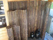 Sichtschutz Bambuszaun  BLACK Schwarzer Bambus 100 x 180cm Zaun Naturzaun