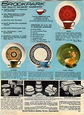 1969 ADVERTISEMENT Dinnerware Melamine Brookpark Lenoxware Concept Genie Antigua