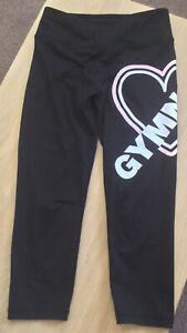 "Gorgeous Girls ""Justice"" Gymnastics Capri Leggings Age 10-12"