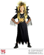 Childrens Spider Girl Fancy Dress Costume Halloween Black Widow Witch Outfit 140