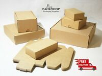 Postal Cardboard Boxes Small Parcel Brown Shipping Mailing Gift Box ALL SIZES