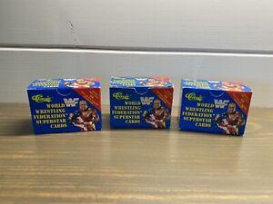 1991 CLASSIC WRESTLING BOX SET - WWF WARRIOR UNDERTAKER HOGAN- Rare 3 Box Lot!!!
