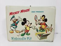Mickey Mouse and friends Kaboodle Kit Vinyl 1963 lunch box