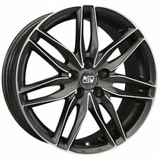 CERCHI IN LEGA MSW 24 8X19 5X112 ET35 MERCEDES SLK MATT GUN METAL FULL POLIS DEC