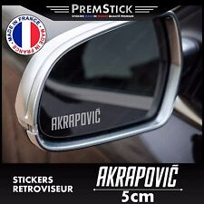 Kit 3 Stickers Retroviseur Voiture Akrapovic ref2; Auto autocollant retro