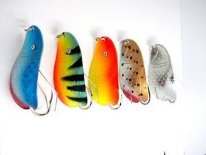Weedless Fishing spoon set  , handmade lure , metal spinner bait, perch tackle