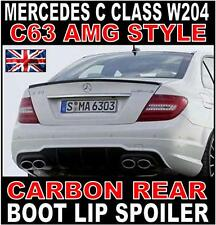Mercedes C Class W204 Saloon AMG Style Carbon Rear Boot Spoiler C63 AMG UK Stock