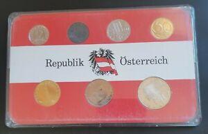1972 Austria Proof Set - 7 Proof Coins Republik Österreich Set