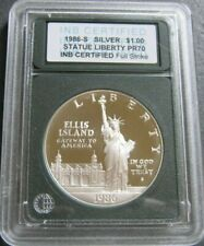 1986-S STATUE OF LIBERTY FULL STRIKE PROOF COMMERMORATIVE SILVER DOLLAR COIN